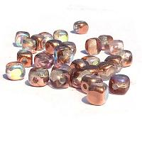 "Glass Cubes Crystal Copper Rainbow ""00030-98533"" 4 mm, 100 st"