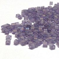 "TOHO cube 1,5 mm ""TC-01-166DF"" Transp Rainb Lt Tanzanite, 10 gr"