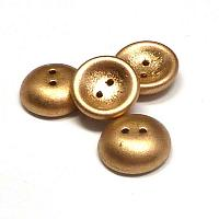 "Cup Button ""01710"" Aztec Gold 14 mm 2 st"