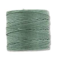 Celery Green Bead/Mac cord superlon, S-lon