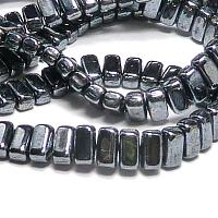 "CzechMates® Bricks Jet Hematite ""23980-14400"" 6*3 mm 50 st"
