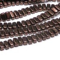 "CzechMates® Bricks Jet Bronze ""23980-14415"" 6*3 mm 50 st"