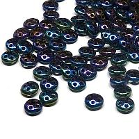 "CzechMates® QuadraLentil Iris Blue ""21435"" 6 mm"