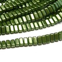 "CzechMates® Bricks Pastel Olive Pearl Coat Olive ""25034"" 6*3 mm"