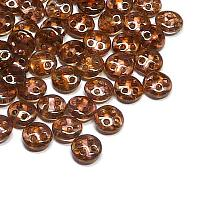 "CzechMates® QuadraLentil Luster Rose Gold Topaz ""65491"" 6 mm 10"