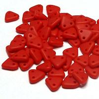 "CzechMates® Triangle Matt Opaque Red ""93200-84110"" 6 mm, 10 gr"