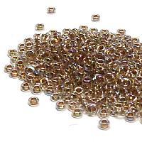 "ToHo demi round 11/0 ""994"" Goldlined Rainbow Crystal, 5 gr"