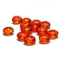 Fire opal - facetterad puffy rondell 4*7 mm, 10 st