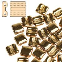 "Fixer bead horizontal ""00030-35000"" Gold Plated 24 k 8*7 mm 10 s"