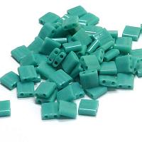 "Tila Bead ""TL412FR"" Opaque Turqouise Green Matted AB 5*5*1,9 mm"