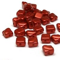 "Silky Bead Matte Metallic Lava Red ""01890"" 6*6 mm, 40 s"