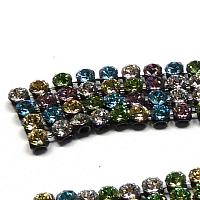 "40001 Swarovski Crystal Mesh ""Multimix Light"" ca 2,7 mm 12 st"