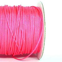 Polyestertråd - chinese knotting cord - neonrosa 0,8 mm