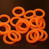 O-ring - gummiring flourescerande orange, 12 mm, 20 st