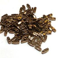 "Quarter Tila Bead ""QTL457"" Metallic Dark Bronze 5*1,2*1,9 mm"