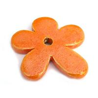 Blomma - orange av keramik 48 mm