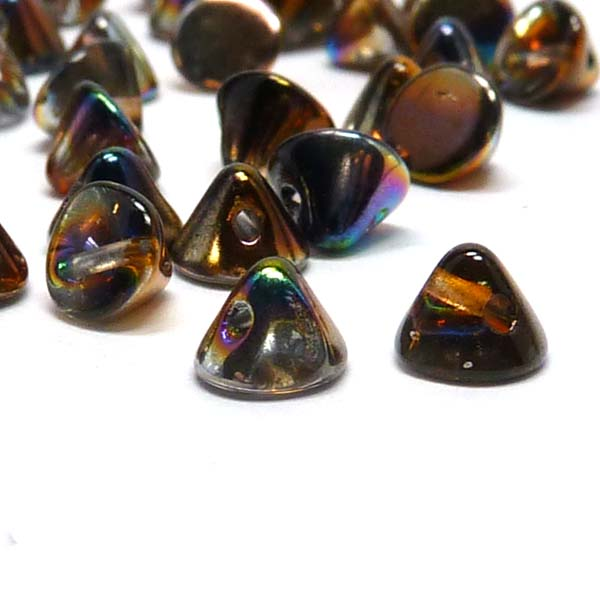 "Button Bead ""00030-95300"" Crystal Magic Copper 4 mm, 50 st"