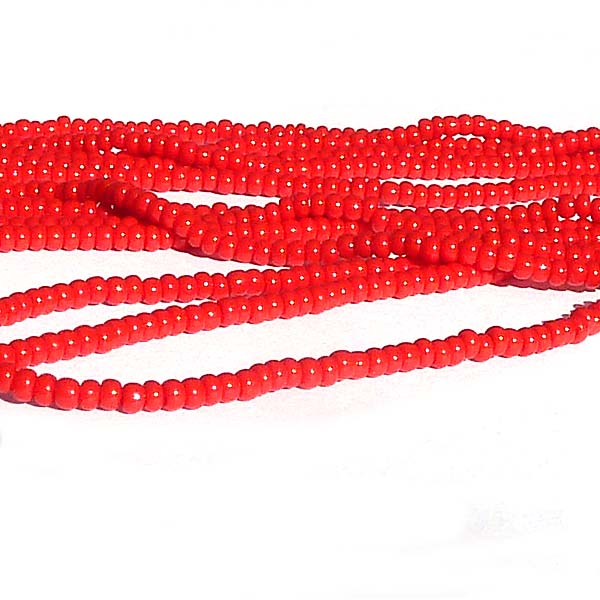 "Tjeckisk seedbead 11/0 ""Red 93190"""